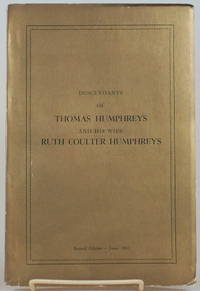 image of DESCENDANTS OF THOMAS HUMPHREYS AND HIS WIFE RUTH COULTER HUMPHREYS