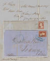 View Image 1 of 6 for ; Two letters carried by the famous Mississippi riverboats, Natchez and Princess from New Orleans co... Inventory #009604