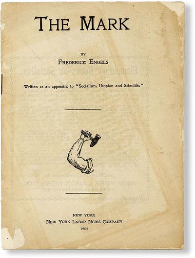 New York: New York Labor News, 1902. 12mo (17cm.); pictorial staplebound self-wrappers; 26pp. Shallo...