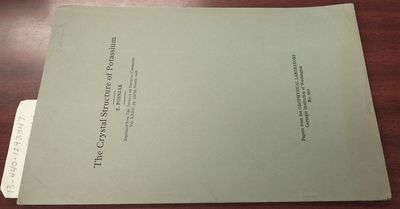 First Edition. Softcover. 8vo, paged -359, tables; VG-; green cover with black print, peripheral tan...