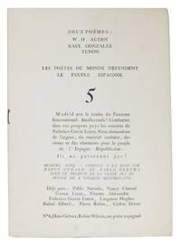 DEUX POÈMES: W. H. AUDEN - RAUL GONZALEZ TUNON.; Les Poétes Du Monde Défendent Le Peuple Espagnol. 5