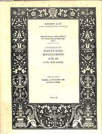 Bibliotheca Phillippica, New Series : Medieval manuscripts: Part 1: 39  Manuscripts of the 9th to the 16th Century (Sale Sotheby & Co.(London)  30th November 1965)