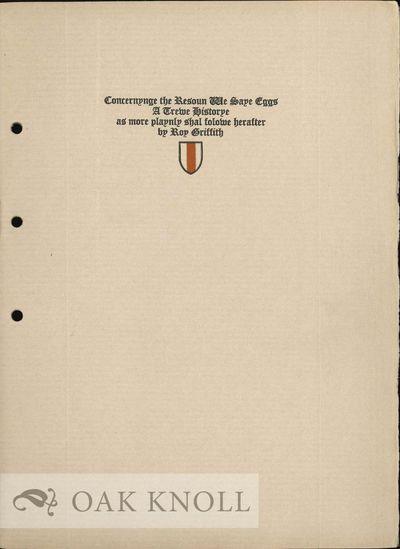 (Cambridge, MA: The Abbey Press, 1925. stiff paper wrappers, fore-edge uncut, in envelope. Abbey Pre...