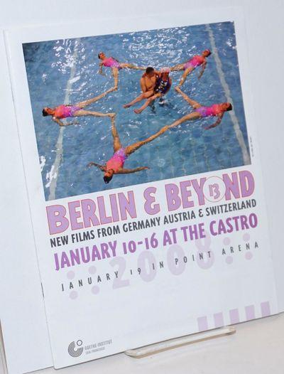 San Francisco: Goethe-Institut, 2008. Magazine. 8x10.5 inches, filmographies, bios, schedules, still...