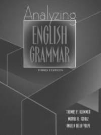 Analyzing English Grammar 3rd Edition