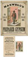 [Illustrated Poster and Related Items]: Maxwell's Prepared Gypsum for Sale Here for Whitening and Coloring Walls