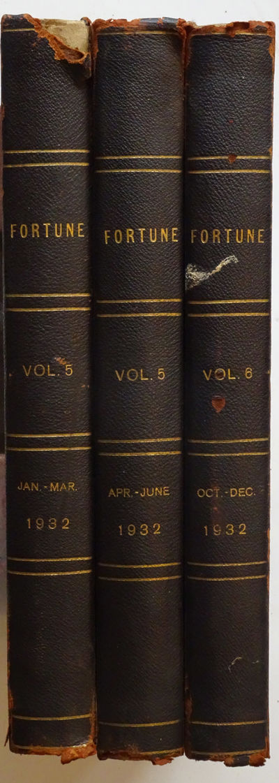 New York: Time Inc., 1932. Three volumes each containing 3 issues complete with covers, Vol. 5, Jan....