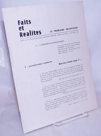 image of Faits et réalités: Le problème palestinien. No. 2 (Avril 1968)
