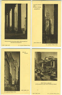 image of 7 Views of New York including Woolworth Building from Colonnade of Municipal Building; Woolworth and Singer Towers, Broadway; Broad Street; The Public Library Fifth Avenue and Forty-Second Street; Tower of the Metropolitan Life Building; Cathedral fo St. John the Divine; Brooklyn Bridge