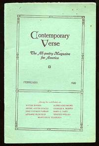 Contemporary Verse: February 1920