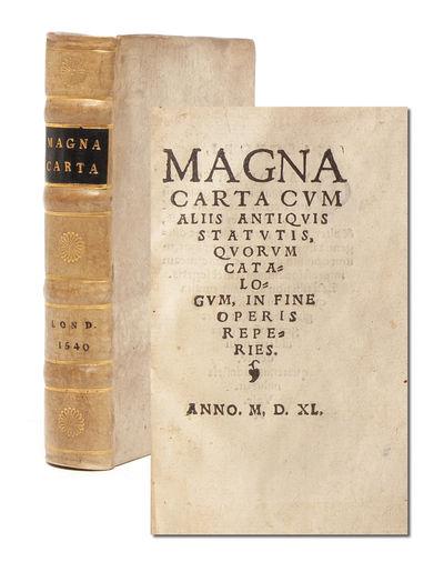 Magna Carta, Cum Aliis Antiquis...