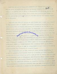Albert Camus Compares The Spanish Civil To World War Ii In A Lengthy Typescript Of His Preface To The Book L'espagne Libre; He Writes One Of His Most Famous And Reproduced Quotes