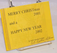 image of Merry CHRISTmas 2001 and a Happy New Year 2002 [signed]