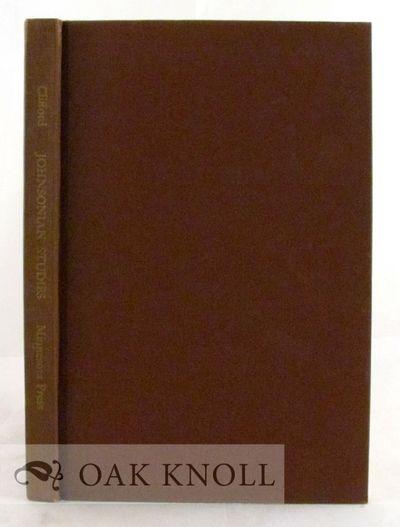 Minneapolis: Univ. of Minnesota Press, 1951. cloth. Johnson, Samuel. 8vo. cloth. iv, (2), 140 pages....