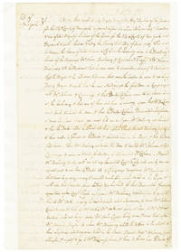 [MANUSCRIPT DEPOSITIONS, SIGNED, REGARDING A DUEL FOUGHT BETWEEN OLIVER DELANCEY AND DR. ALEXANDER COLHOUN IN COLONIAL NEW YORK, OVER DISPARAGING REMARKS DELANCEY MADE TO COLHOUN ABOUT THE NEW YORK GOVERNOR, GEORGE CLINTON]