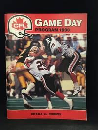 Game Day Program 1990. Ottawa vs. Winnipeg