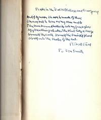 A BOY'S WILL with AUTOGRAPH MANUSCRIPT STANZA