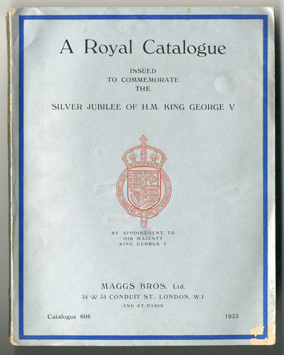 London: Maggs Bros., 1935. Small quarto. Printed wrappers. Frontispiece. Plates and facsimiles. Cat....
