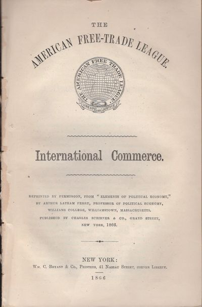 New York: Wm. C. Bryant & Co, 1866. Reprinted. Wraps. Very good. Disbound wraps. 56 pages. Title on ...