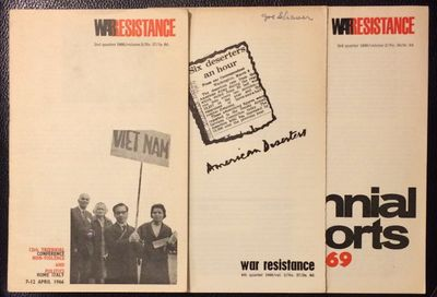 London: War Resisters' International, 1969. Three issues of the digest-format staplebound journal, v...