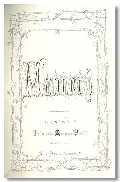 Cincinnati, OH: Benn Pitman, 1857. ,68,pp. Small octavo. Brown cloth, decorated in blind, lettered i...