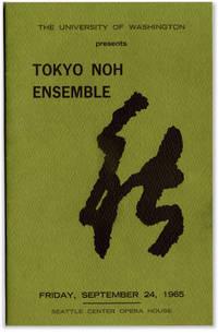 image of The University of Washington Presents Tokyo Noh Ensemble Friday, September 24, 1965 Seattle Center Opera House.