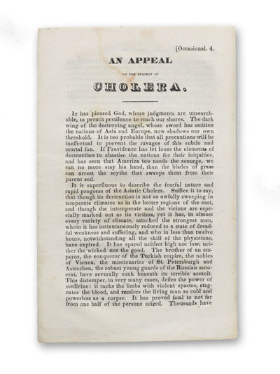 : American Tract Society, . First edition.. Small faint stain along the upper edge of the first leaf...