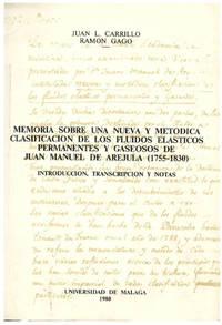 MEMORIA SOBRE UNA NUEVA METODICA CLASIFICACION DE LOS FLUIDOS ELASTICOS PERMANENTES Y GASEOSOS DE JUAN MANUEL DE AREJULA(1755-1830). INTRODUCCION, TRANSCRIPCION Y NOTAS
