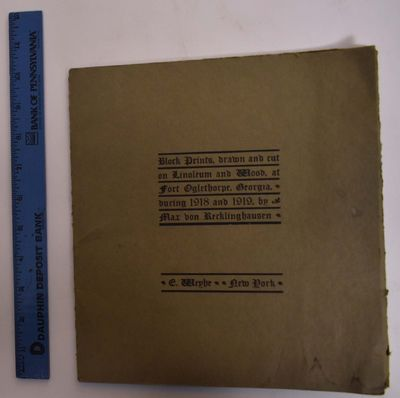 New York: Weyhe, 1920. Small edition. Paperback. VG+, some staining to green wraps. Olive green fold...