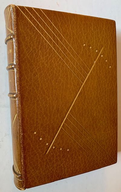 New York: Robert M. McBride & Co, 1919. Full leather. Very Good +. A very attractive copy of the 191...