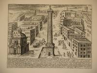 Columna Traiana (Trajan's Column, Rome/Colonna Traiana, Roma): Original Engraving by Domenico De Rossi (after Giacomo Lauro). Plate 17 from Collectio Antiquitatum Urbis : Una Cum Alijs Recentioribus