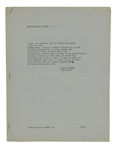 New York: Communications Company, 1968. First Edition. Very Good. First edition. Published simultane...
