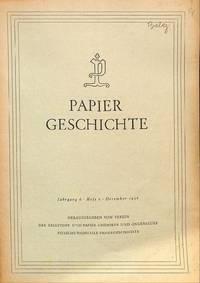 Das Wanderbuch eines Papiermachergesellen aus Zittau. by  WISSO WEISS - from Frits Knuf Antiquarian Books (SKU: 13727)