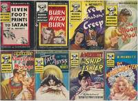 """A. MERRITT MURDER MYSTERY MONTHLY"" SERIES: # 1 Seven Footprints to Satan / # 5 Burn Witch Burn / # 11 Creep Shadow Creep / # 18 The Moon Pool / # 24 Dwellers in the Mirage / # 29 The Face in the Abyss / # 34 The Ship of Ishtar / # 41 The Metal Monster"