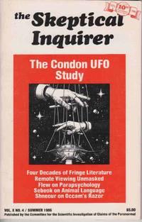 SKEPTICAL INQUIRER, VOL. X, NO. 4  SUMMER 1986 The Condon UFO Study