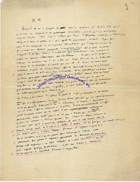 "An Autograph Manuscript Draft Of Albert Camus's Landmark ""The Crisis Of Man"" Speech Given At Columbia University In 1946"