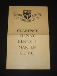 Eton College Chronicle: Issue No. 2828 Published on Thursday, March 3rd 1949