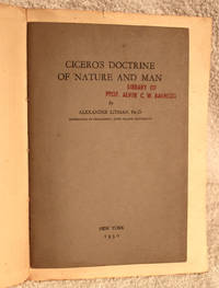 CICERO'S DOCTRINE OF NATURE AND MAN