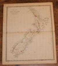 "Map of New Zealand - disbound sheet from 1857 ""University Atlas"