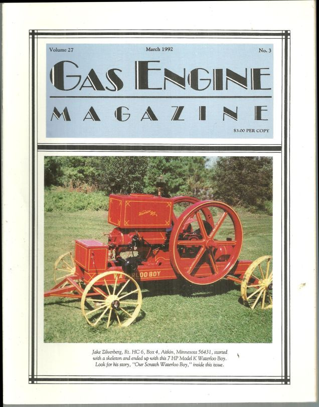 Image for GAS ENGINE MAGAZINE MARCH 1992