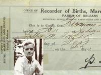 Truman Capote's original Birth Certificate. [ In Cold Blood, Breakfast At Tiffiny's. A Christmas Memory]