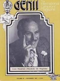 image of Genii: The International Conjurors Magazine:November 1981