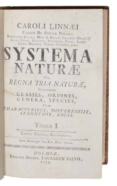 Systema Naturae. Per Regna Tria...