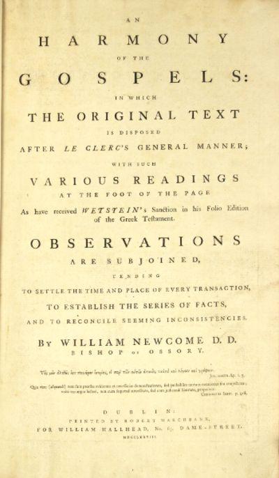 Dublin: printed by Robert Marchbank, for William Hallhead, 1778. First edition, tall folio (18½ i...