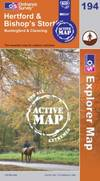 image of Hertford and Bishop's Stortford (OS Explorer Map Active)