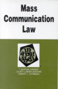 Mass Communications Law in a Nutshell