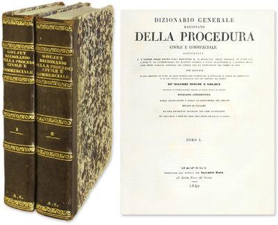 1840. Dictionary of Civil Procedure and Commercial Law Bioche, . Goujet, . Dizionario Generale Ragio...