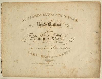 Berlin: In Ad: Mt: Schlesinger's Buch=und Musikhandlung: , 1825. Oblong folio. Disbound. 1f. (title)...