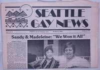 """image of Seattle Gay News: vol. 5, #18, October 13, 1978: Sandy & Madeleine: """"We won it all"""