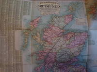 image of Richardson's Chart of the British Isles giving Railways, Steamship Routes with distances, Ports, Rivers, Canals, Main Roads, Distances between Towns and Rainfall.....